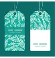 emerald green plants vertical stripe frame pattern vector image vector image