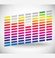 eq equalizer with bars editable vector image vector image