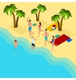 Friends On The Beach vector image vector image
