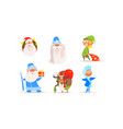funny christmas characters for winter holiday vector image vector image