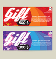 Gift Voucher Modern Template Design vector image vector image