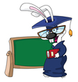 graduation rabbit vector image vector image