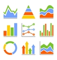 Graph and Charts Diagrams Infographic Set vector image vector image