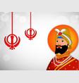 guru gobind singh jayanti vector image vector image
