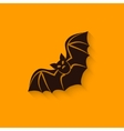 halloween bat sign vector image vector image