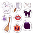 halloween carnival symbols patchwork vector image vector image