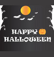 happy halloween text banner happy halloween text vector image vector image