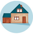 house with garage home exterior vector image vector image