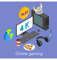 Iisometric concept for online gaming vector image vector image