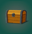 isolated dower chest or isometric wooden crate vector image vector image