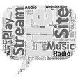 JP blog radio text background wordcloud concept vector image vector image