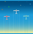 light aircraft in the starry sky vector image