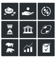 Loan icons vector image vector image