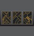 luxury geometric invitation card design vector image vector image