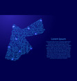 map jordan from printed board chip and radio vector image vector image