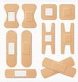 medical adhesive bandage elastic plasters vector image vector image