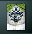 Merry christmas party design with holiday