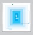 minimalistic cover brochure design geometric vector image vector image