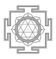 monocrome outline Durga yantra vector image vector image