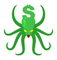 monster dollar isolated money octopus vector image