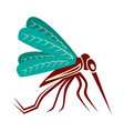 mosquito close up side view isolated on white vector image vector image