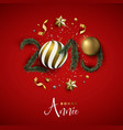 new year 2019 red holiday decoration in french vector image vector image