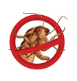 No cockroach vector image