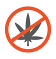 no marijuana leaf symbol design vector image vector image