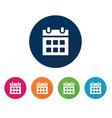 office calendar icon vector image