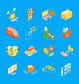 online shopping icons set isometric view vector image