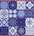 portuguese azujelo seamless tiles pattern vector image vector image