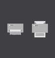 Print and shredder flat icons vector image