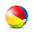 realistic colorful beach ball symbol isolated on vector image vector image