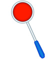 Red disk staff vector image