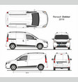 renault dokker cargo delivery van 2019 vector image vector image