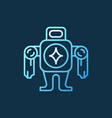 robot concept colorful icon or logo in thin vector image vector image