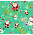 Seamless Pattern Christmas Tosca vector image
