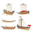ship set vector image