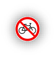 sign no bicycle vector image vector image