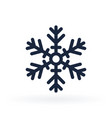 simple icon a snowflake in line style vector image vector image