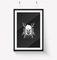 sketch hand drawn hunter skull vector image vector image
