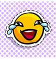 smile crying with laughter vector image vector image