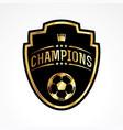 soccer football champions badge emblem vector image vector image