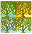 Stylized abstract seasons tree vector image
