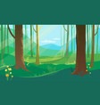 summer forest landscape with flowers vector image vector image