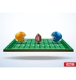 Symbol of a american football game on field vector image vector image