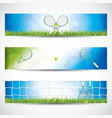 tennis banners vector image vector image