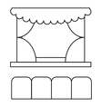Theater auditorium icon outline style