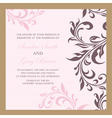 wedding invitation pink vector image vector image