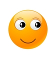 yellow round emoticon vector image vector image